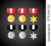 military medals golden and...
