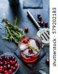 hand crafted cranberry cocktail ... | Shutterstock . vector #579202183