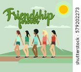 friendship illustration vector | Shutterstock .eps vector #579202273