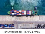 container container ship in... | Shutterstock . vector #579217987