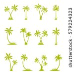 tropical set. sea island with... | Shutterstock .eps vector #579224323