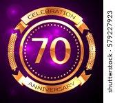 seventy years anniversary... | Shutterstock .eps vector #579227923
