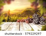 fresh grapes fruits and... | Shutterstock . vector #579229297