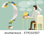 difficulty and barriers reading ... | Shutterstock .eps vector #579232507