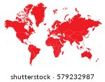 world red map | Shutterstock .eps vector #579232987