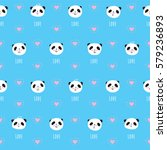 seamless pattern with cute... | Shutterstock .eps vector #579236893