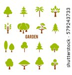 icons trees. vector symbols... | Shutterstock .eps vector #579243733