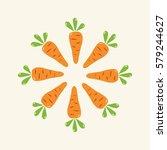 carrot vegetable group   Shutterstock .eps vector #579244627