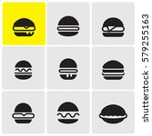 burgers icons | Shutterstock .eps vector #579255163