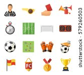 soccer and football flat icon... | Shutterstock .eps vector #579260503