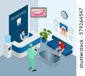 isometric modern dental... | Shutterstock .eps vector #579264547