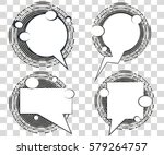 set comic speech bubbles with... | Shutterstock .eps vector #579264757