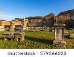 Small photo of Rome. Italy. Roman Forum: the ruins of the Basilica Aemilia, 179 BC