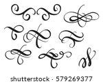 set of vintage decorative... | Shutterstock .eps vector #579269377