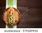 chilean completo italiano ... | Shutterstock . vector #579289933