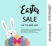 typographic easter sale poster. ... | Shutterstock .eps vector #579296887