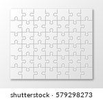 a lot of piece flat puzzle... | Shutterstock .eps vector #579298273