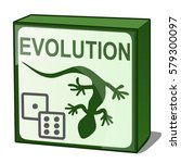 a box with board game evolution ... | Shutterstock .eps vector #579300097