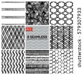 8 simple retro geometric...   Shutterstock .eps vector #579307933