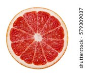 pink grapefruit isolated on... | Shutterstock . vector #579309037