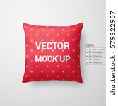 mock up of a red pillow... | Shutterstock .eps vector #579322957