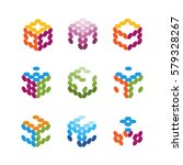 collection of vector logos... | Shutterstock .eps vector #579328267