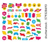 web stickers  banners and... | Shutterstock . vector #579328693