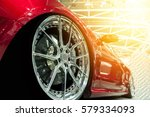 front of a generic red sport...   Shutterstock . vector #579334093