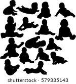 silhouette of children   Shutterstock .eps vector #579335143