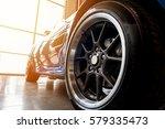 back of a generic blue sport...   Shutterstock . vector #579335473