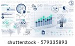 colorful corporate infographic... | Shutterstock .eps vector #579335893