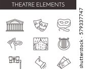 set of theatre related line... | Shutterstock .eps vector #579337747