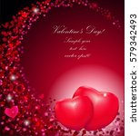 gift card with hearts and text | Shutterstock .eps vector #579342493