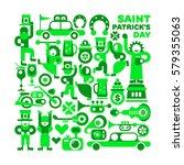 saint patrick's day vector... | Shutterstock .eps vector #579355063