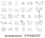 set with internet security icons | Shutterstock .eps vector #579356707