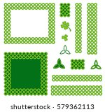 traditional green celtic style... | Shutterstock .eps vector #579362113