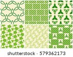 traditional green celtic style... | Shutterstock .eps vector #579362173
