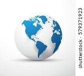 blue earth globe america   Shutterstock .eps vector #579371923