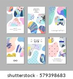 set of creative universal art... | Shutterstock .eps vector #579398683