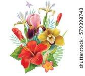 arrangement from flowers   Shutterstock .eps vector #579398743