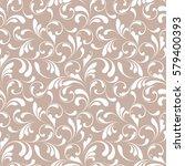floral seamless pattern. sample ... | Shutterstock .eps vector #579400393