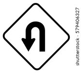 u turn sign | Shutterstock .eps vector #579406327