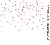 falling sakura petals isolated... | Shutterstock .eps vector #579418177