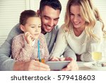 family  parenthood  technology... | Shutterstock . vector #579418603