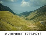 mountains with roads landscape. | Shutterstock . vector #579434767