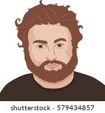 man portrait. vector... | Shutterstock .eps vector #579434857