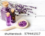 organic cosmetics with lavender ... | Shutterstock . vector #579441517