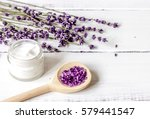 organic cosmetics with lavender ... | Shutterstock . vector #579441547