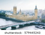london   palace of westminster  ... | Shutterstock . vector #579445243
