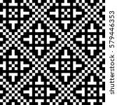 vector seamless pattern.... | Shutterstock .eps vector #579446353